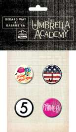 Umbrella Academy Button Pack 2
